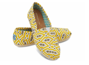I ordered these fun TOMS with a birthday gift certificate