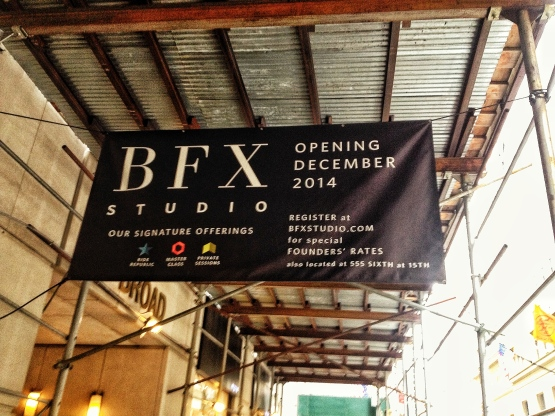 So excited that BFX is opening a studio near my office!